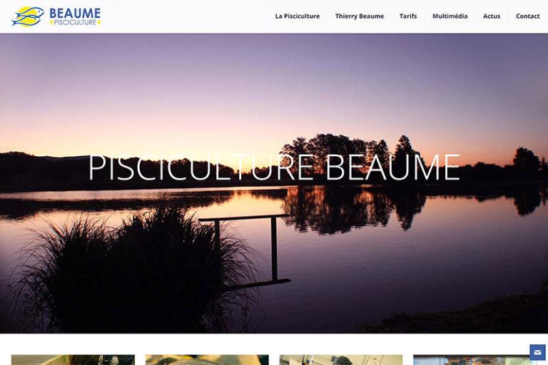 Site Internet de la Pisciculture Beaume à Chaux