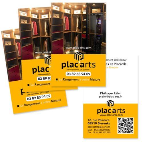 Création des cartes commerciales Plac'Arts