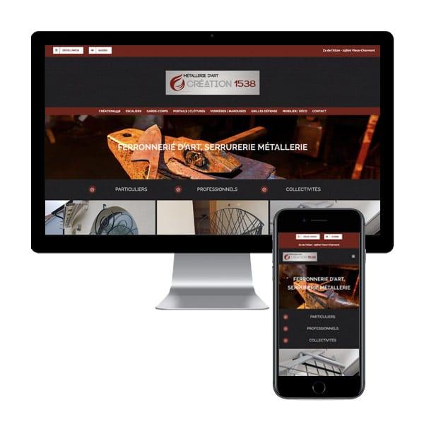 Création du Site Internet de la Ferronnerie d'Art Création 1538