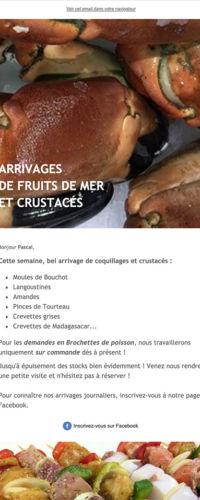 gestion newsletter Poissonnerie Beaume