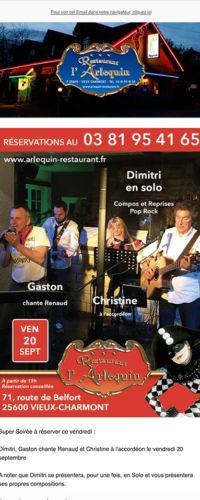 gestion newsletter Restaurant Arlequin