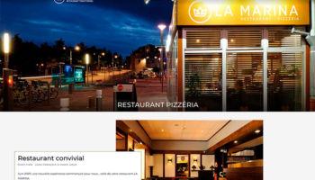 Site Internet du restaurant La Marina à Belfort - secteur Hôtel Restaurant