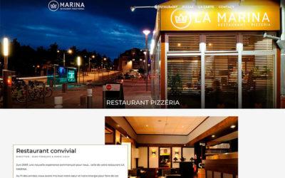 Site Internet du restaurant La Marina à Belfort