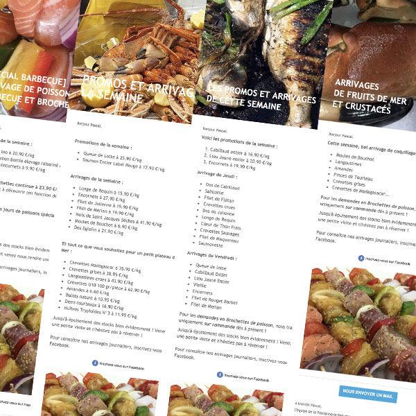 newsletter hebdomadaire de la poissonnerie Beaume