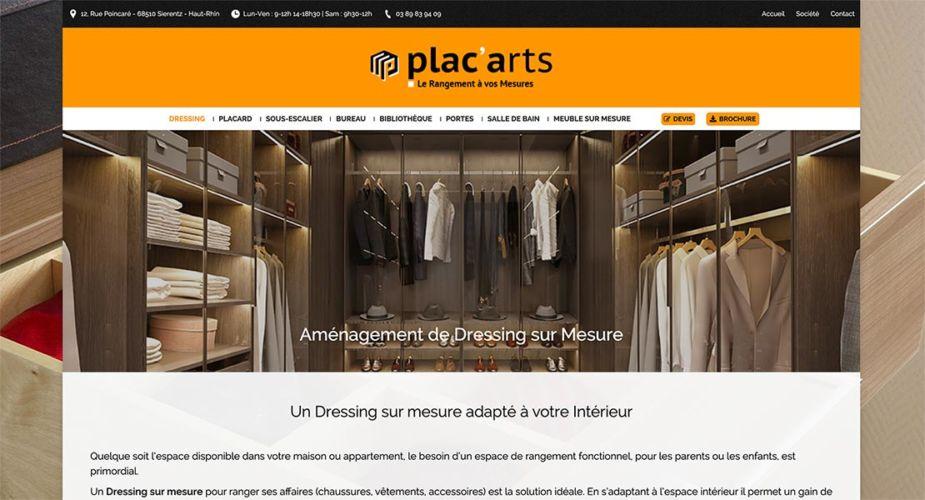 nouveau site internet Plac'Arts