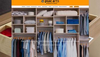 Site Internet de la société Plac'Arts à Sierentz - secteur Pme commerce