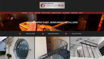 Site Internet de la ferronnerie d'art Création 1538 à Vieux-Charmont - secteur Pme Industrie