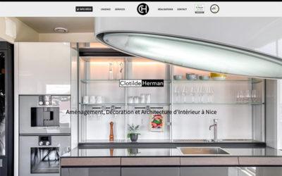 Site Internet de l'architecte d'intérieur Clotilde Herman à Nice