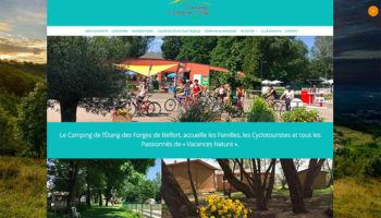 Site Internet du camping international de Belfort - secteur Tourisme