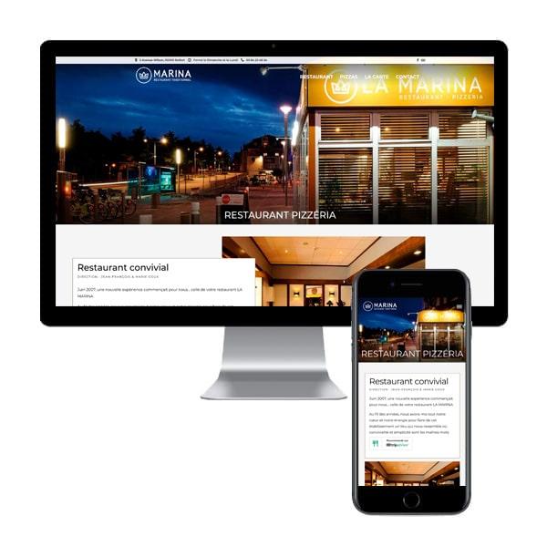 création du site du restaurant La Marina Belfort