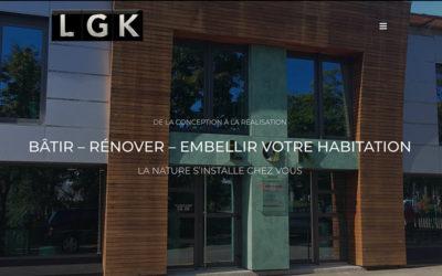 site internet de la société LGK matériaux naturels à Belfort