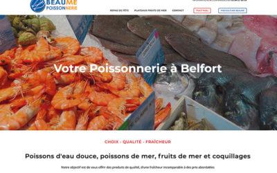 site internet de la poissonnerie Beaume à Belfort
